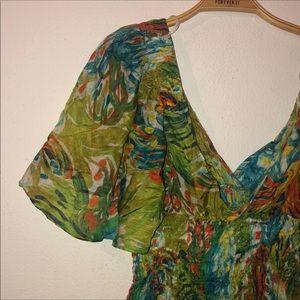 Zara watercolor blouse